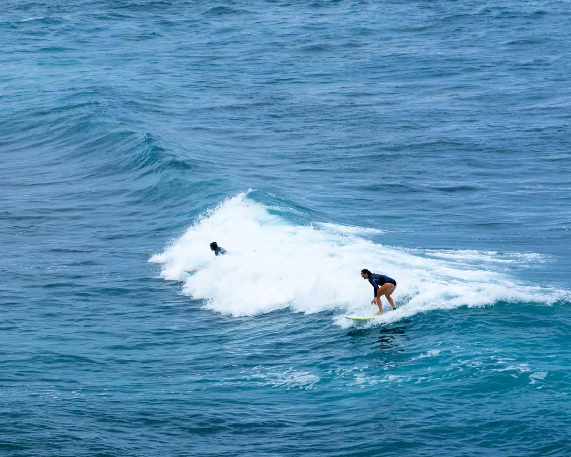 Surfer at Hookipa Beach Hana Highway