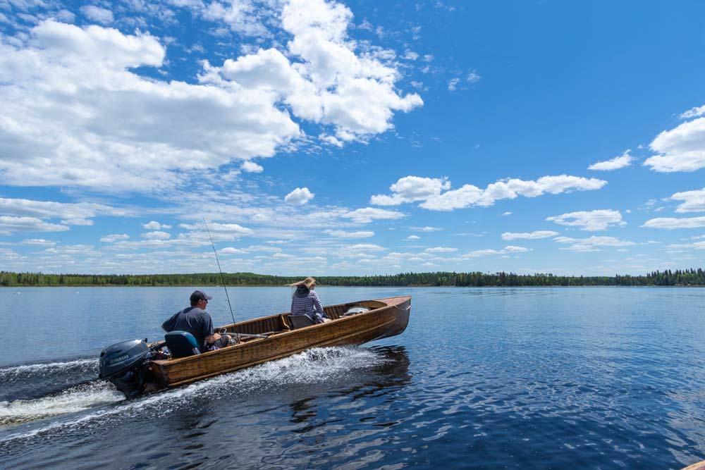Boating on Esnagi Lake Ontario Fishing
