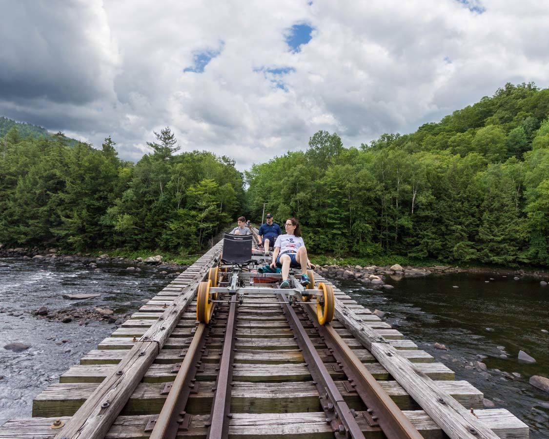 Lake George Rail Biking North Creek