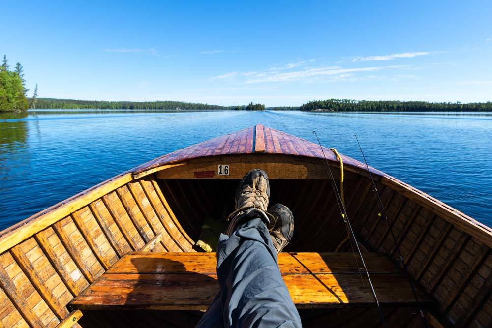 Relaxing on a northern Ontario fishing adventure