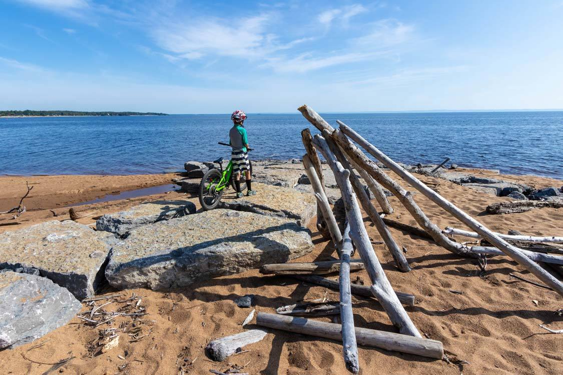 Biking the Blueberry Trail at Pointe Taillon Saguenay-Lac-St-Jean