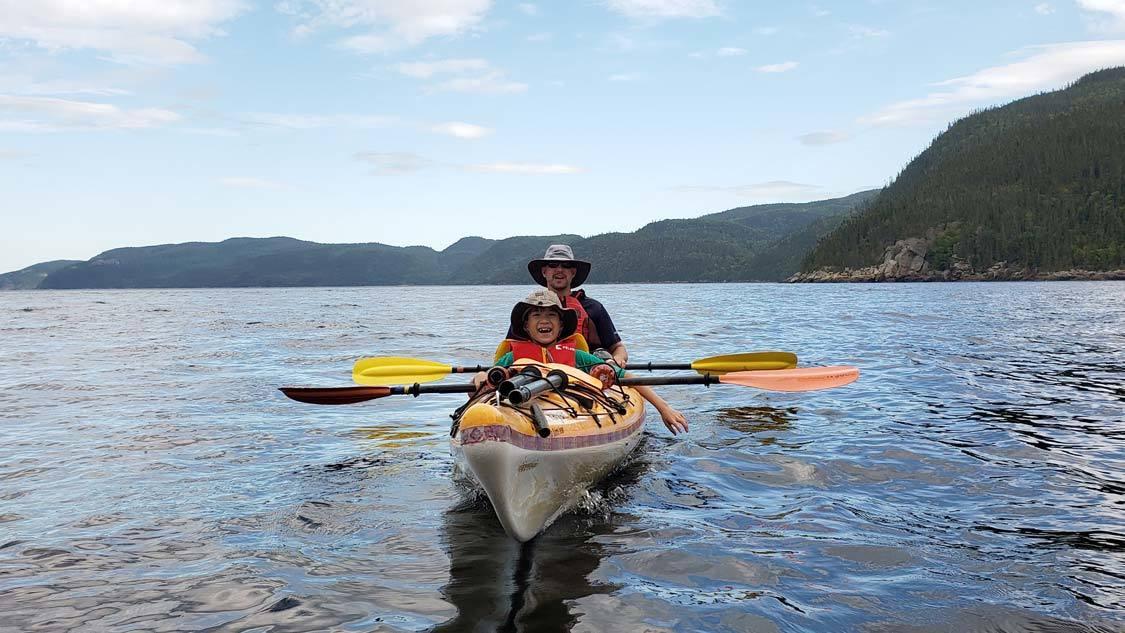 Kayaking Saguenay Fjord with kids
