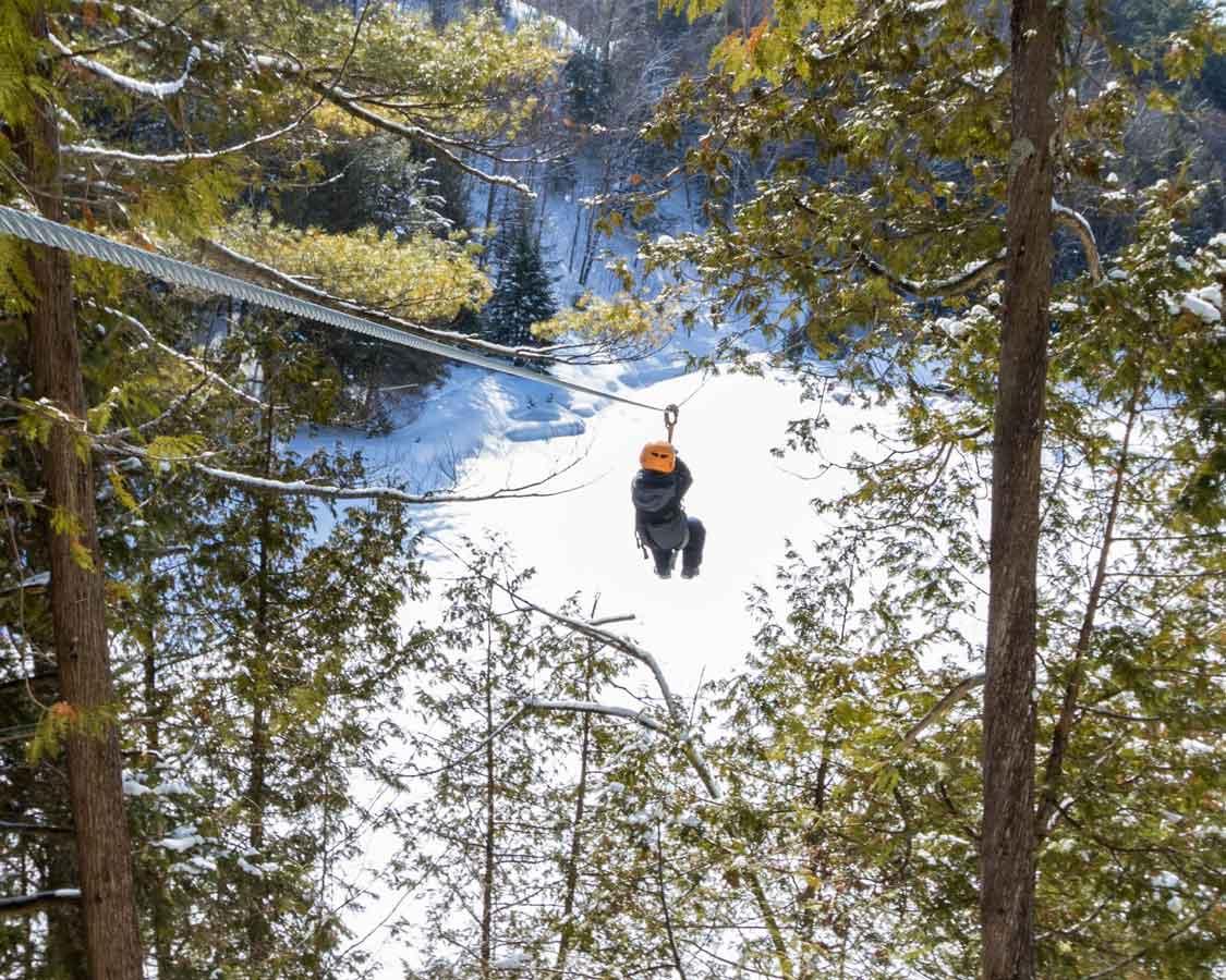 Wandering Wagars at the Abraska La Fleche Adventure Park in Quebec