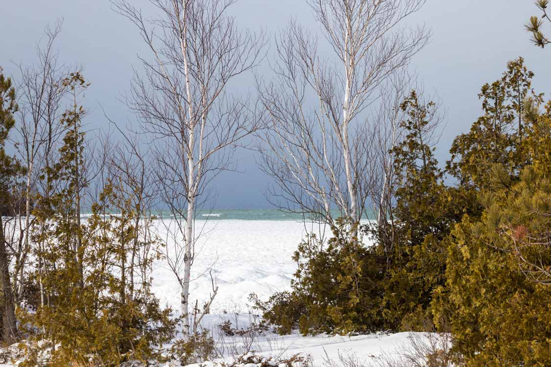 Icy shore of winter at MacGregor Point