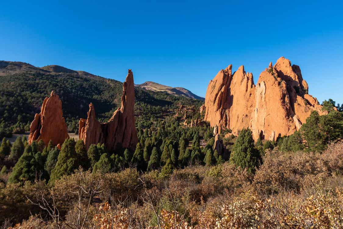 Valley of the Garden of the Gods from Palmer Hiking Trail