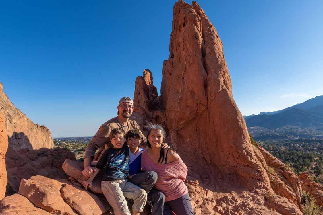 Wandering Wagars Family Hiking in Garden of the Gods