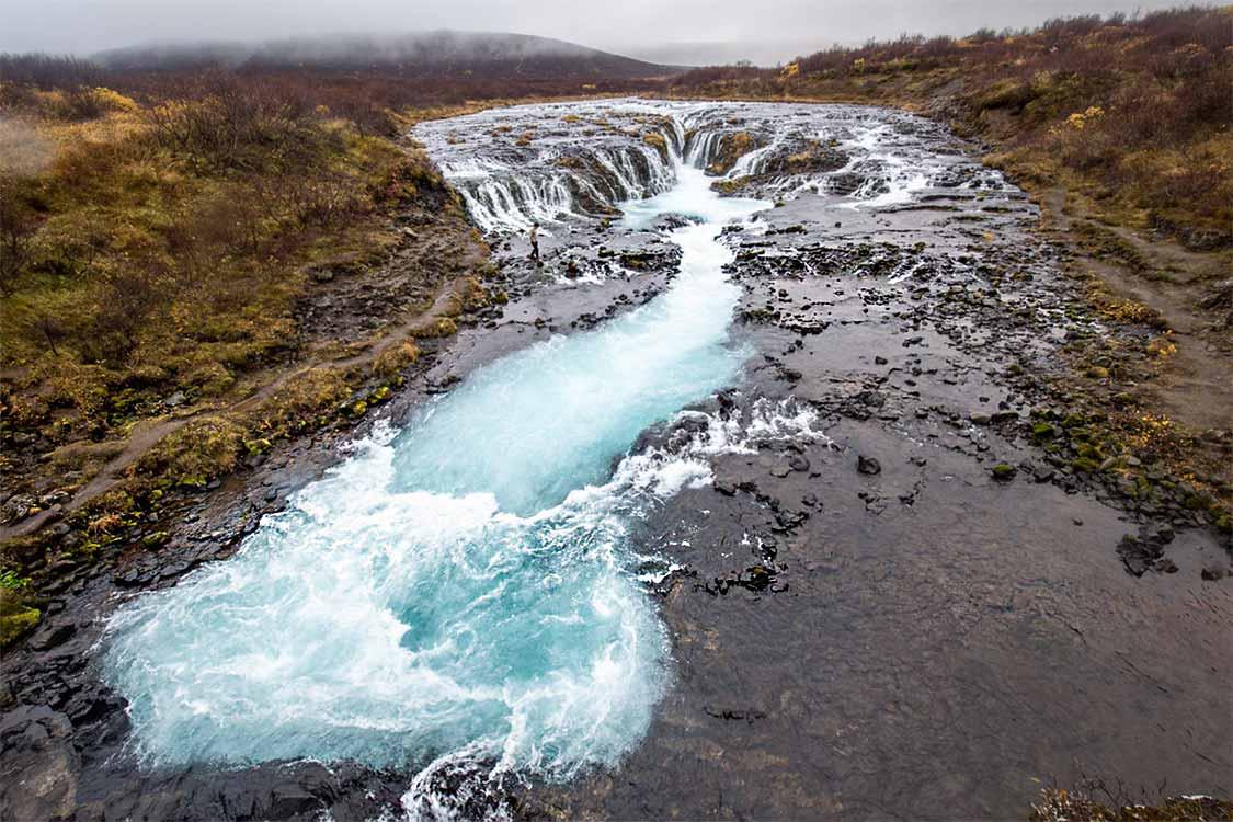 Bruarfoss small but beautiful Iceland waterfalls