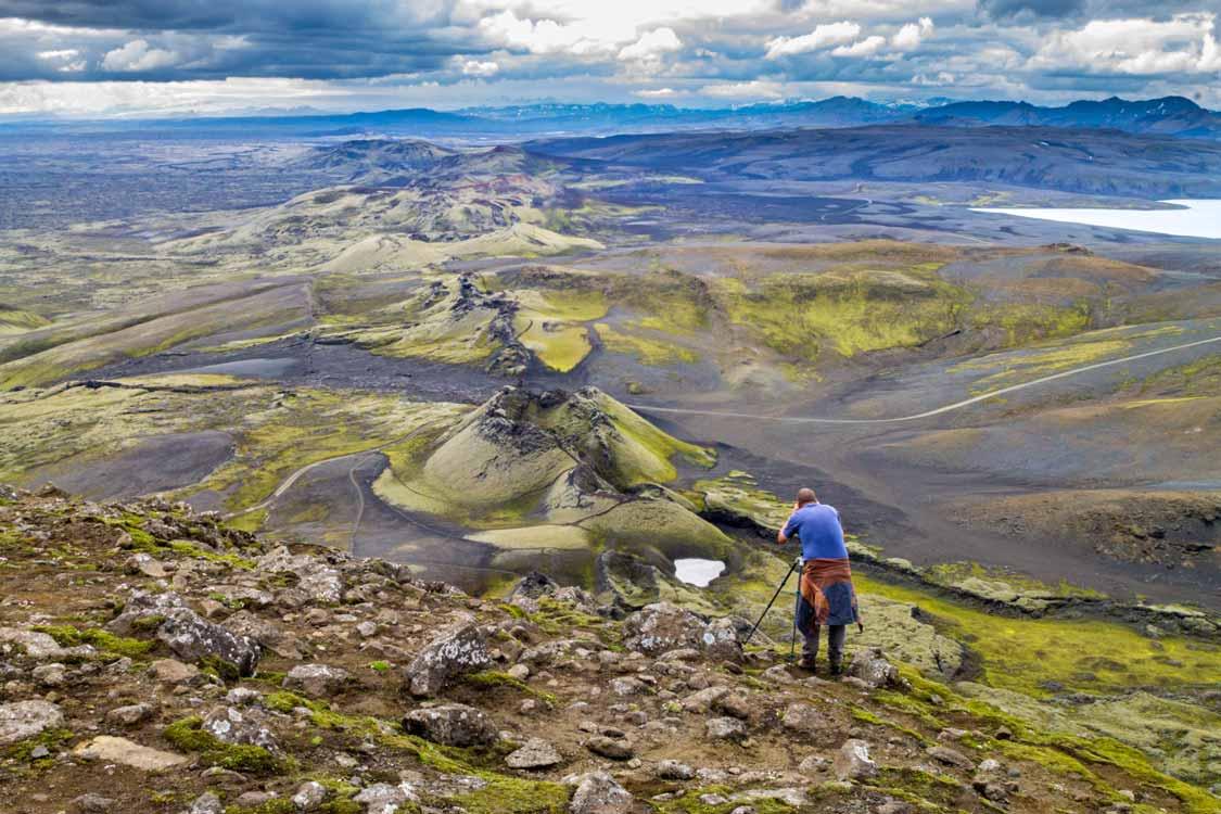 Craters of Laki in Vatnajokull National Park Iceland