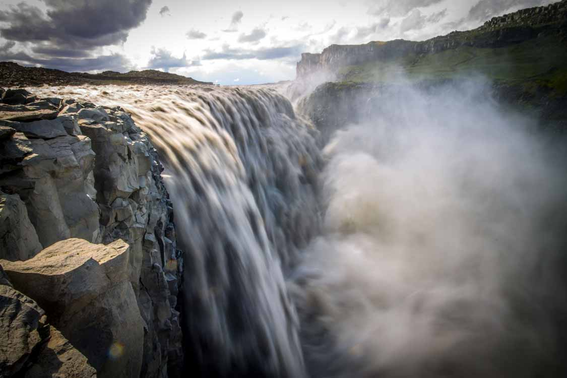 Dettifoss the largest waterfall in Iceland