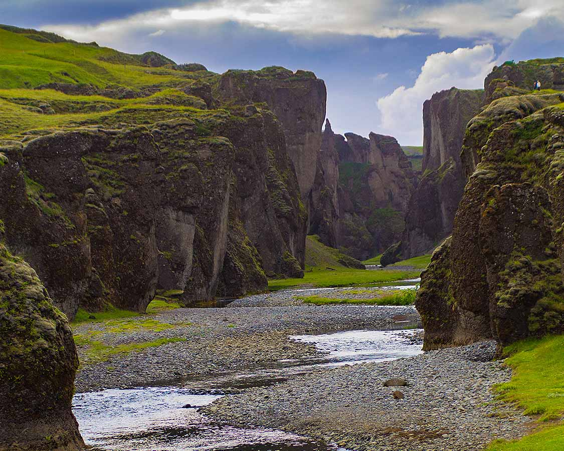 What to see in Iceland Fjadrargljufur Canyon In South Iceland