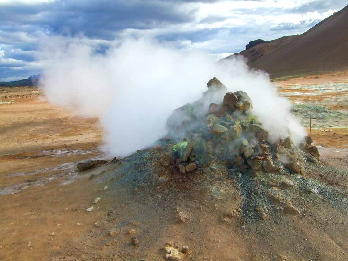 Geothermal Vents At Namaskard Pass In Iceland