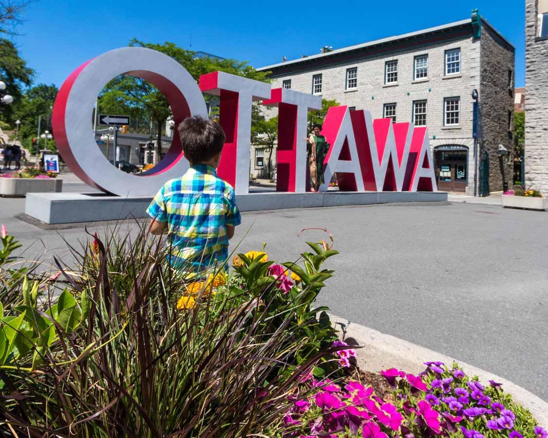 Ottawa sign in Byward market