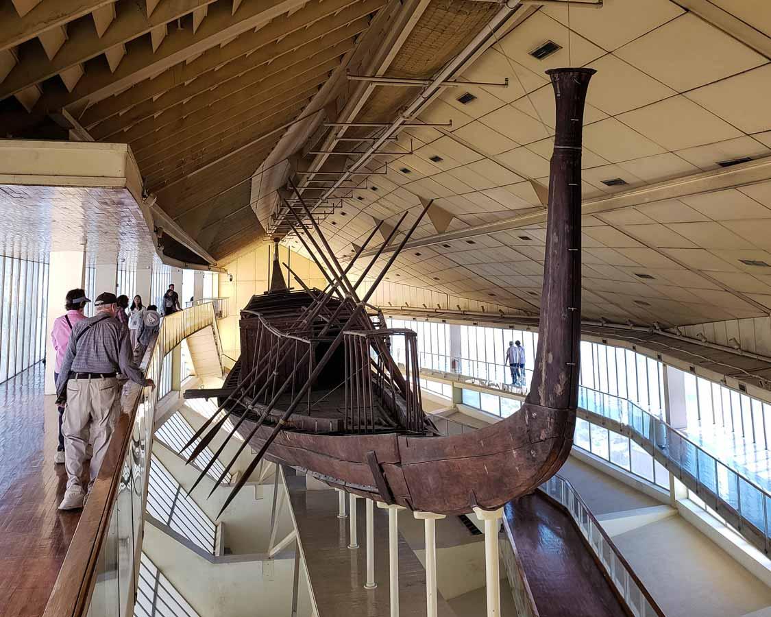Cheops Solar Boat in Giza Egypt