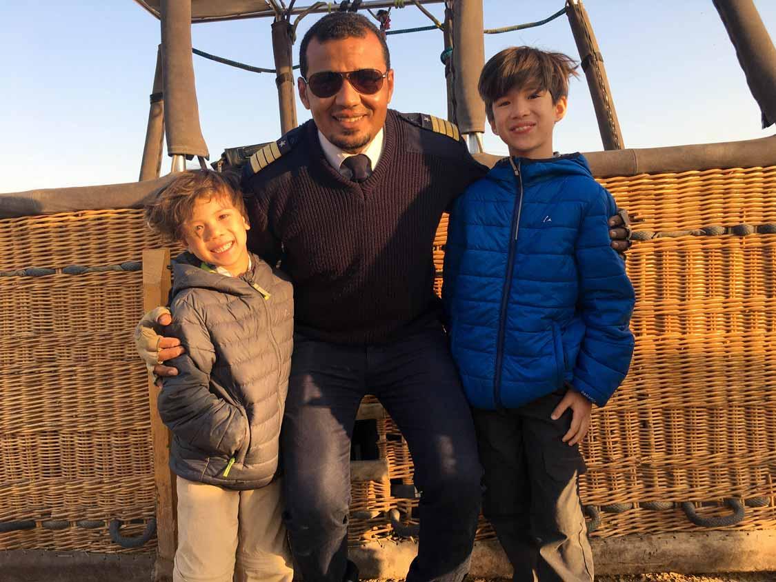 Our Luxor hot air balloon pilot