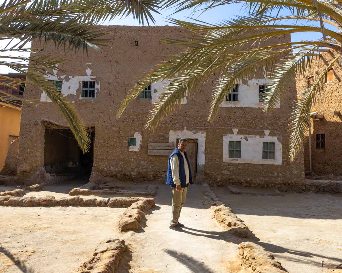 Abu Bakr Ismail at the House of Siwa Museum