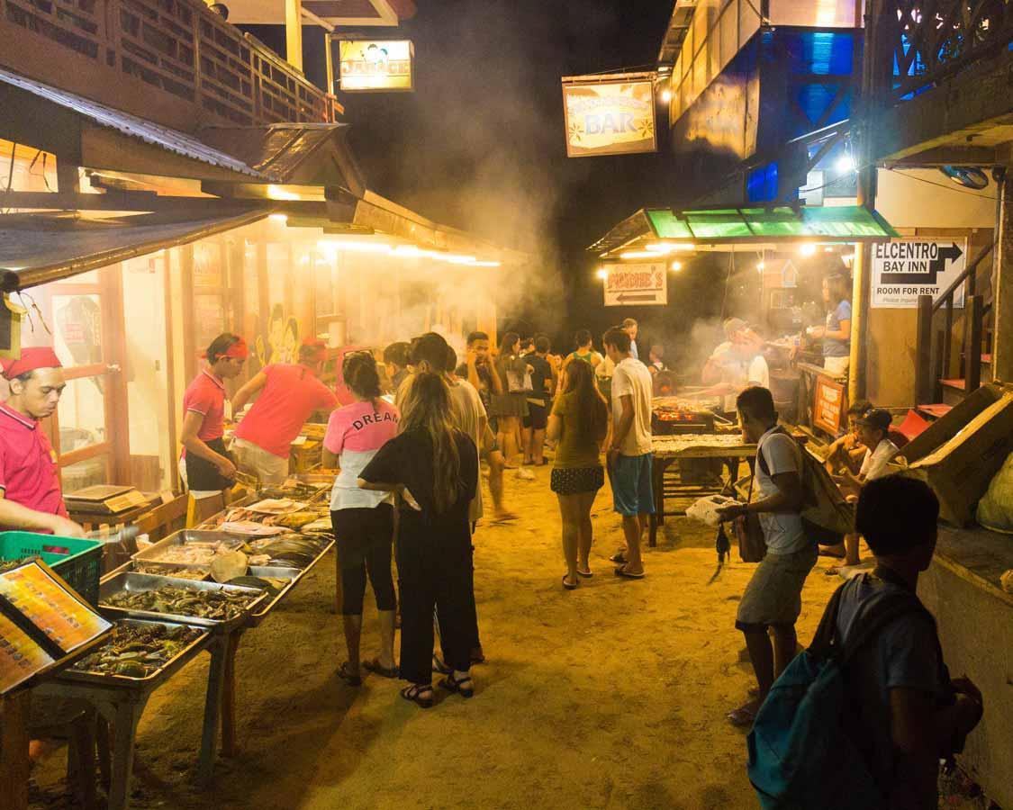 Filipino fish market in El Nido Palawan