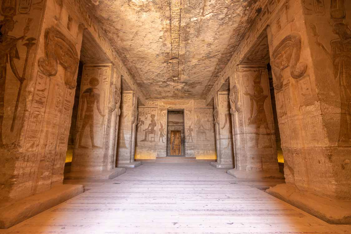 Inside Small Temple at Abu Simbel Egypt