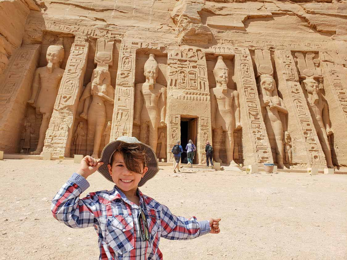 Small Temple of Nefertari for kids at Abu Simbel Egypt