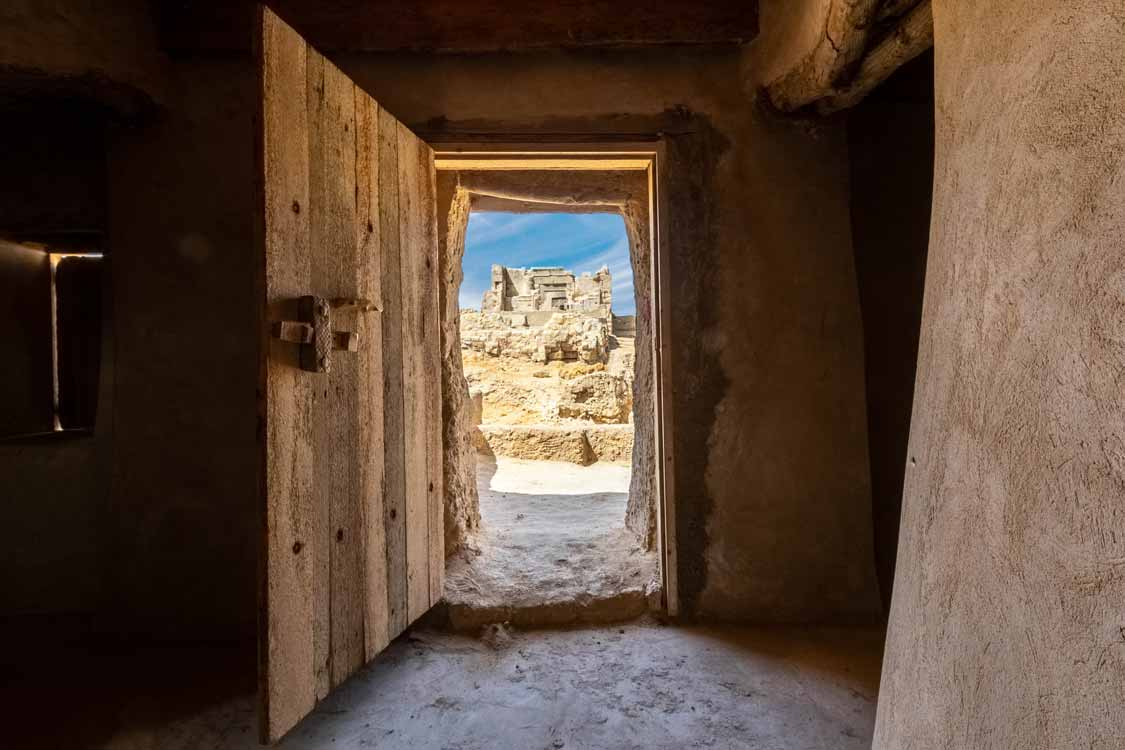 Temple of the Oracle from the Amun Mosque in Siwa Egypt