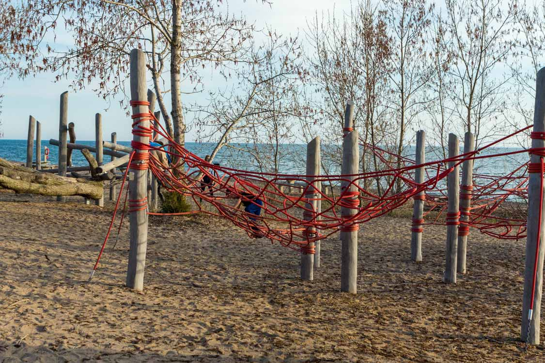 Playgrounds at Northwest Beach in Point Pelee National Park