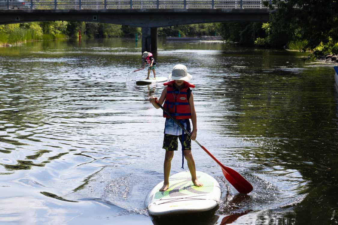 Standup Paddleboarding on the Tay River in Perth Ontario
