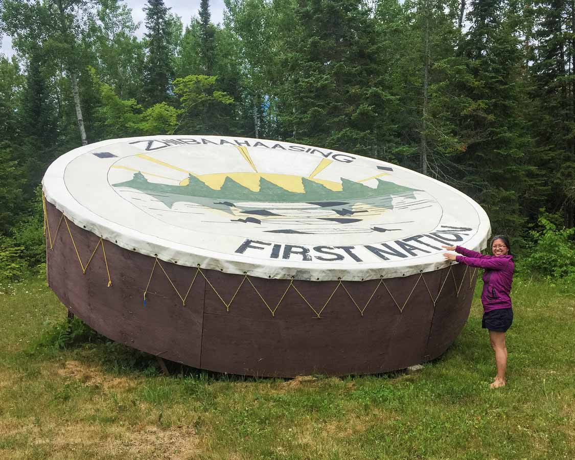Worlds Largest Pow Wow Drum on Manitoulin Island