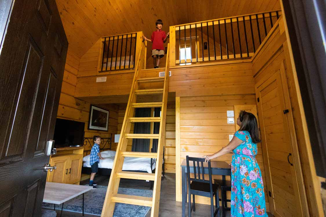 Glamping cabins in Chiefswood Park Six Nations