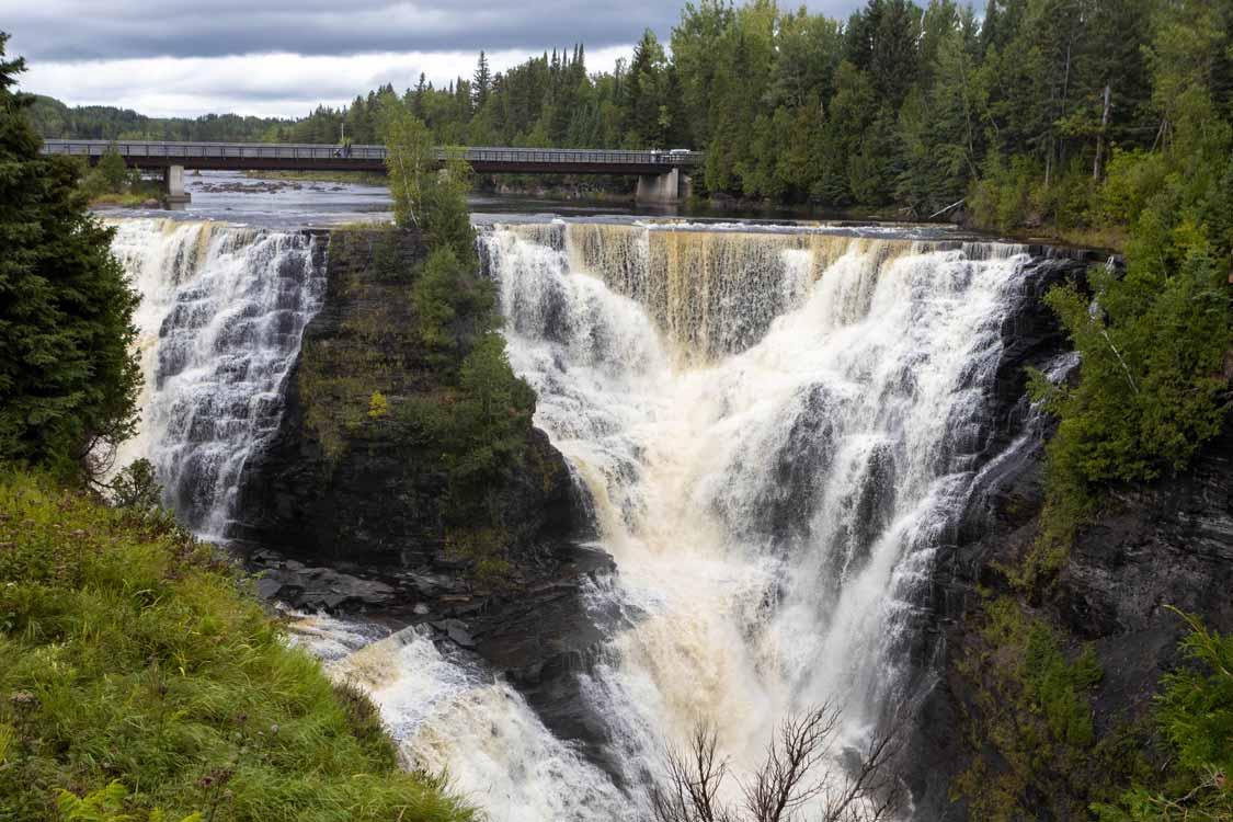 The powerful Kakabaka Waterfall near Thunder Bay