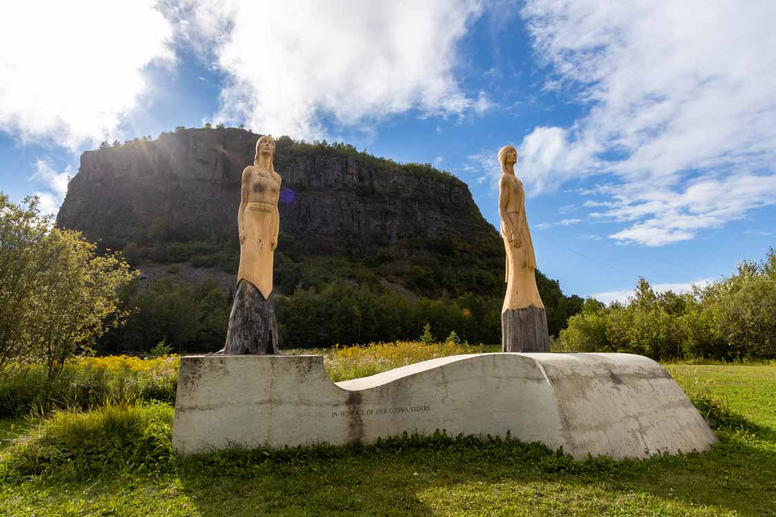 First Nations monument at Mount McKay