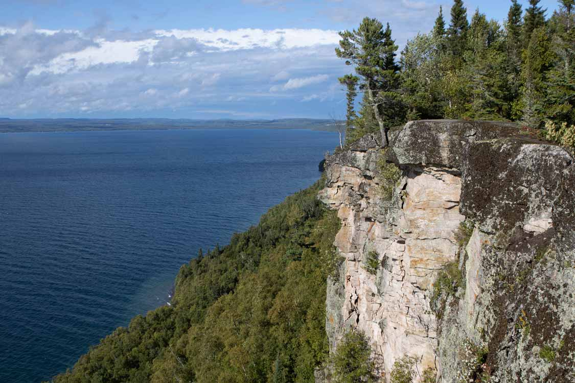 Views from the Thunder Bay overlook in Sleeping Giant Provincial Park