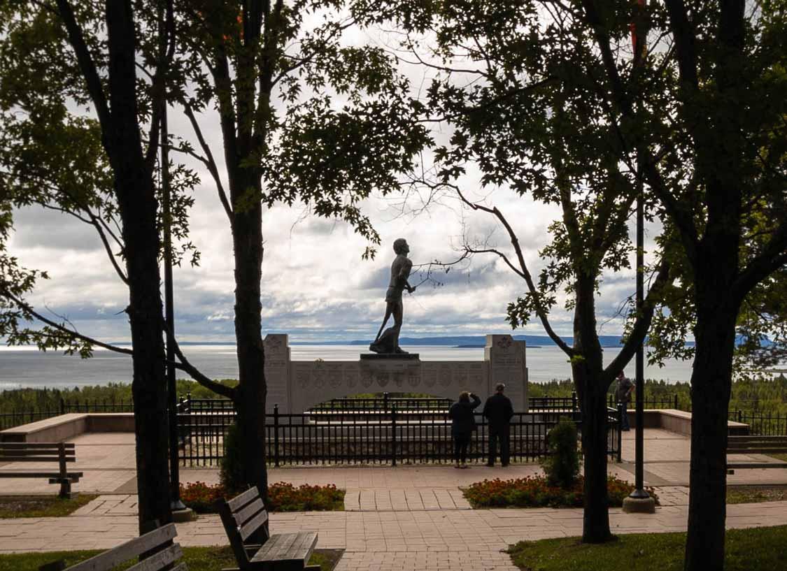 Terry Fox monument near Thunder Bay, Ontario