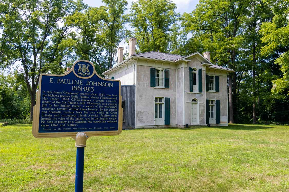 Childhood home of E Pauline Johnson in Chiefswood Park