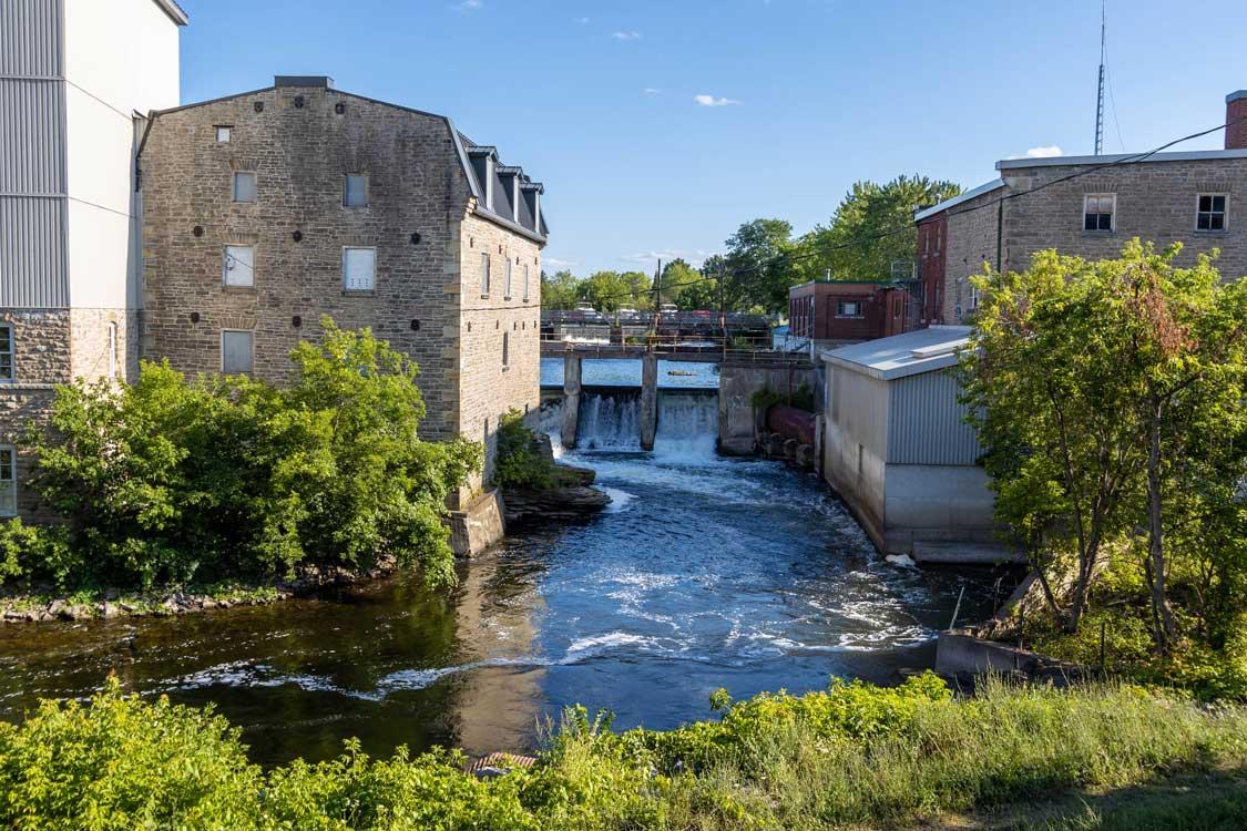 Waterfalls in Smiths Falls Ontario