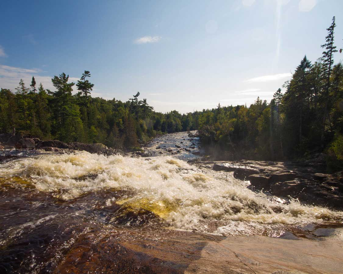Views from the top of Chippewa Falls near Sault Ste Marie