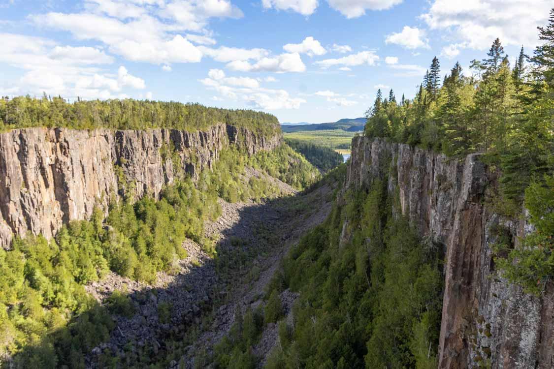 Ouimet Canyon in Dorion Ontario