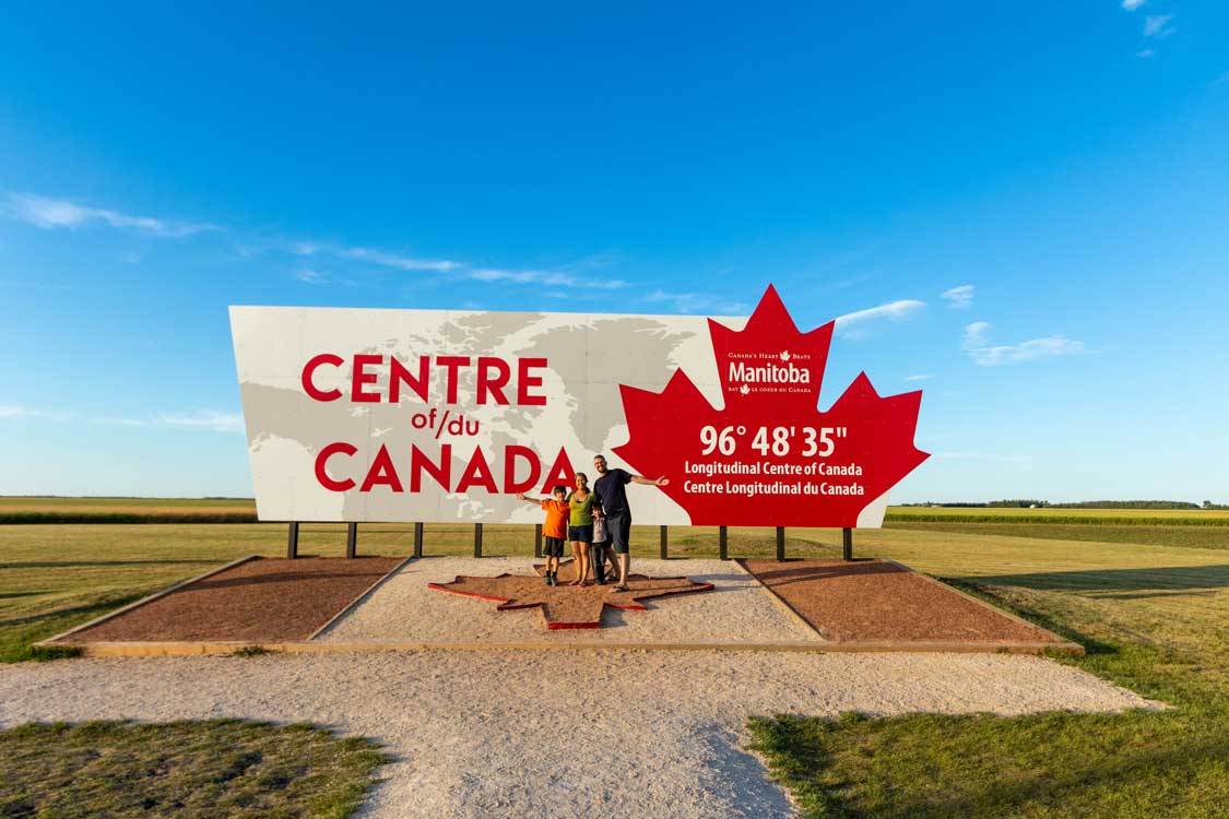 Centre of Canada Park near Winnipeg Manitoba