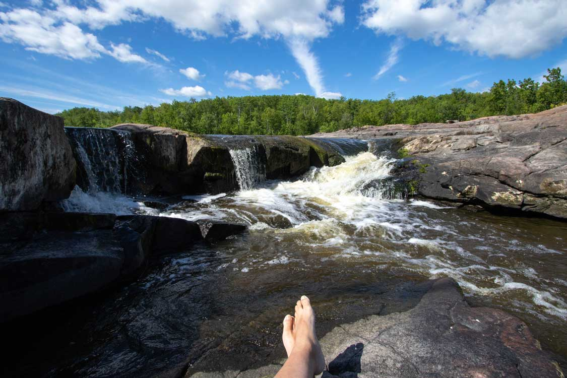 Seven Sisters Waterfall at Whitemouth Provincial Park