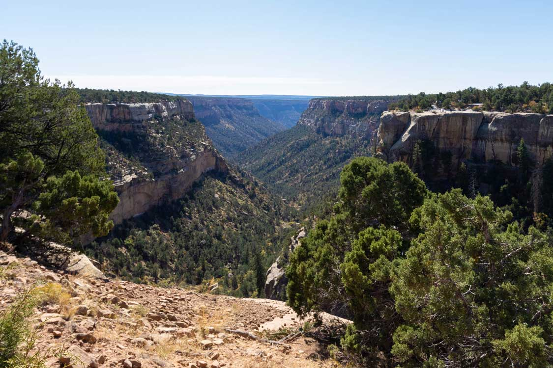 Views along the Mesa Verde Canyon