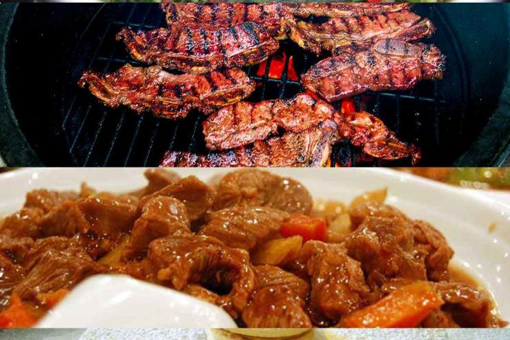 Collection of various Argentinean dishes