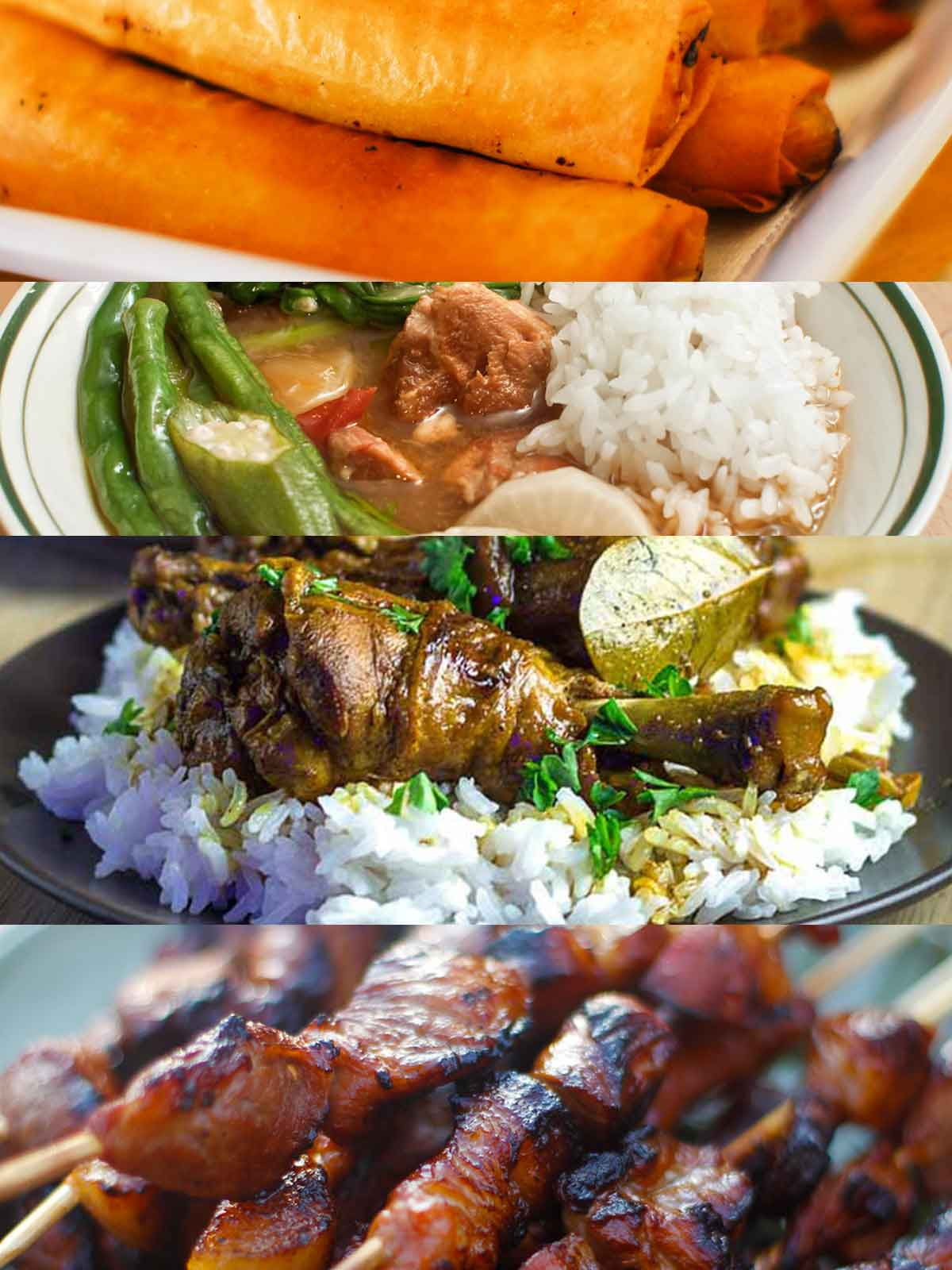 collage of various Filipino dishes