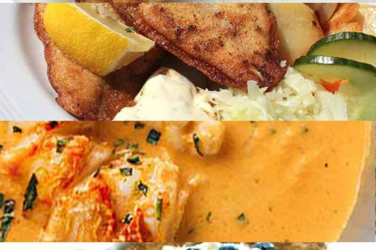 Collage of various Icelandic dishes