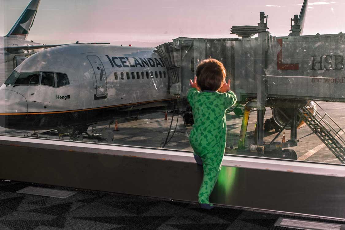 Flying Icelandair to Reykjavik