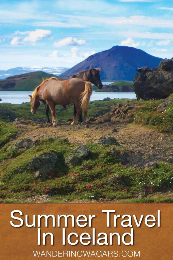 Summer travel in Iceland Pinterest