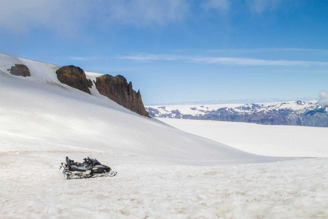 summer snowmobiling in Iceland