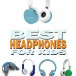 Collection of various headphones for kids with titling