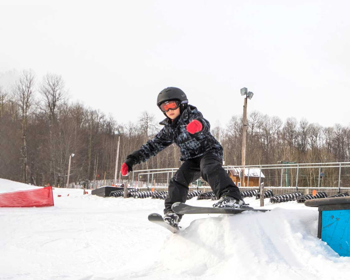 Big C practices his jumps at Whiteface Mountain Ski Resort