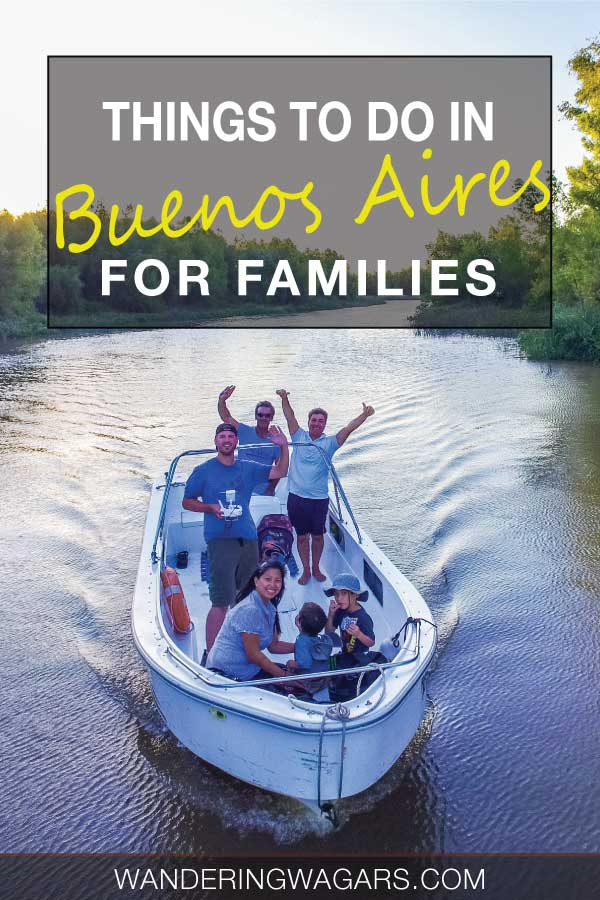A family boating on the rivers near Buenos Aires