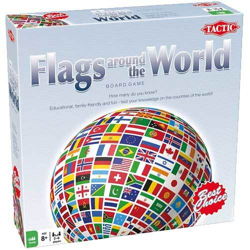 Flags around the World board game box