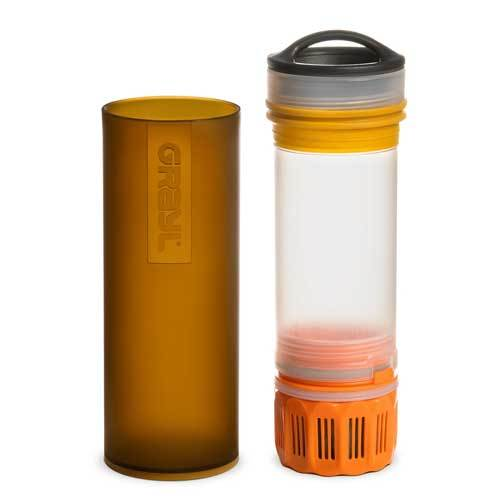 Orange Grayl Ultralight Travel Water Filter
