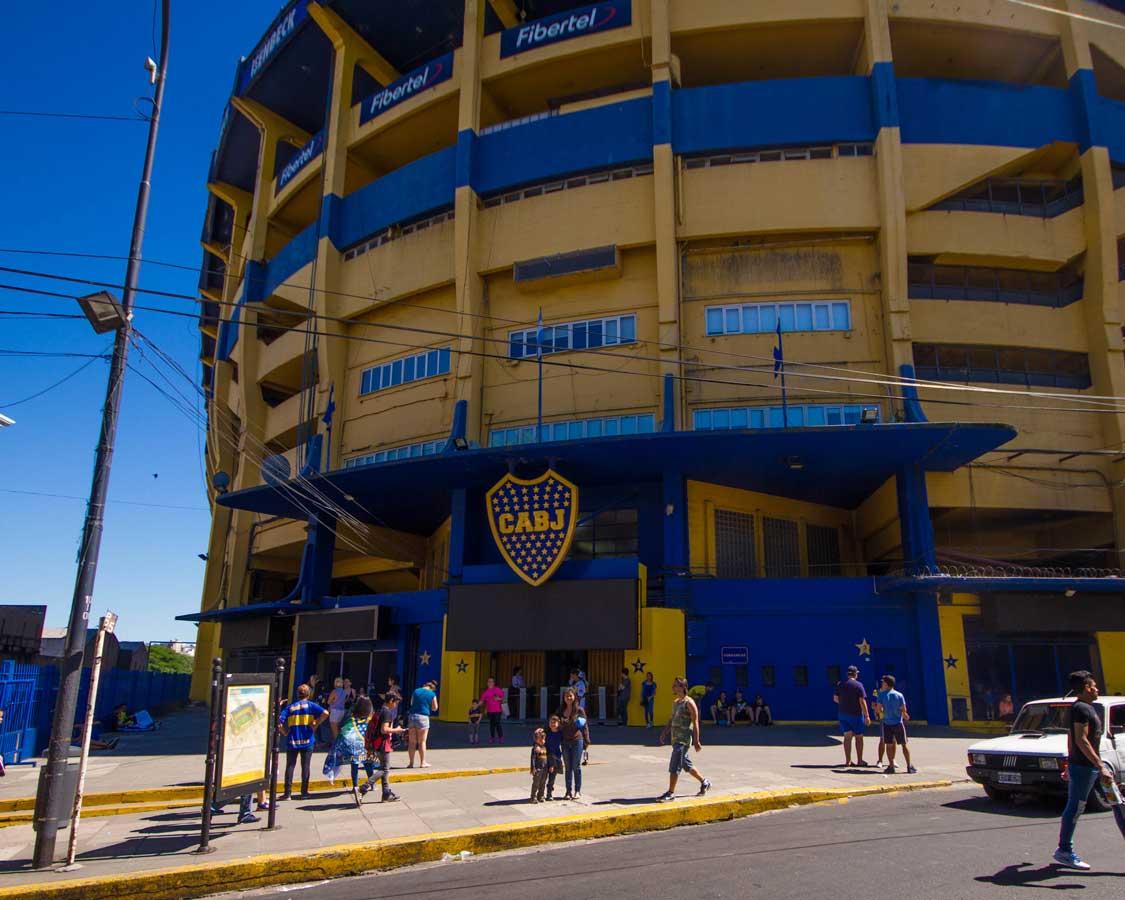 La Bombanera stadium home of the Boca Juniors
